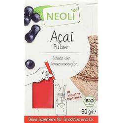 Neoli Acai Pulver Bio Superfood für Smoothies, Tee, Joghurt, Säfte und Müsli, 1er Pack (1 x 90 g)
