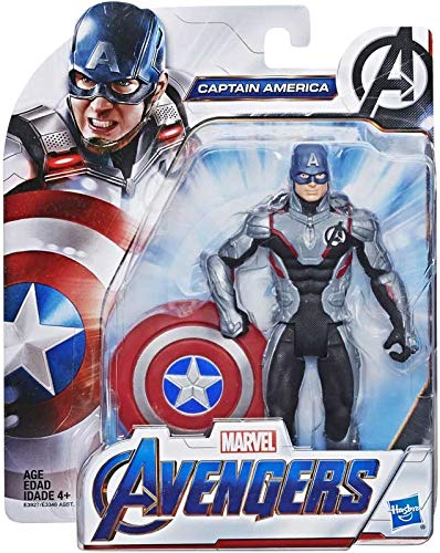 Collector Avengers Endgame - Captain America Team Anzug - Actionfigur mit Zubehör, ca. 6