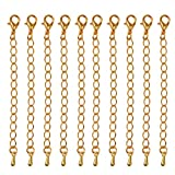 10pcs Verlängerung Halskette Kettenverlängerungen Schmuck Erkenntnisse 75mm - Gold, 1.3*1.4cm