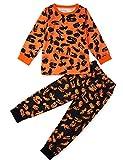 Rave on Friday Klein Kind Schlafanzüge Rundhals Schwarzes Tier Drucken Lustiges Muster Freizeitkleidung Pyjamas Sets Nachtwäsche 2-3 Jahre