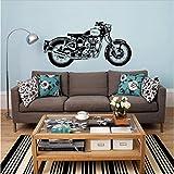 Etiqueta de la pared Royal Enfield Moto Wall Art Sticker Classic Inglés Motocicleta Decal para decoración de la habitación40x80 cm