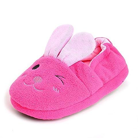 Estamico Toddler Girls' Bunny Slipper Pink 11-12 UK