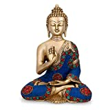 craftvatika Abhaya Buddha Statue tibetischen Buddha Messing Skulptur Buddhistische Buddhismus Deko Figur Kunst