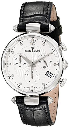 Claude Bernard Women's 10215 3 APN2 Dress Code Chronograph Analog Display Swiss Quartz Black Watch