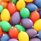 Eier aus Plastik zum Hängen 24-tlg. Set, bunt sortiert - Ostereier