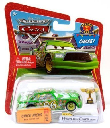 Disney Pixar Cars Chick Hicks with Piston Cup 1:55 CHASE Die-cast Vehicle