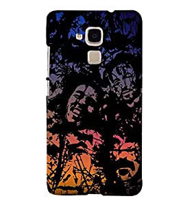 Faces Wallpaper 3D Hard Polycarbonate Designer Back Case Cover for Huawei Honor 5c :: Huawei Honor 7 Lite :: Huawei Honor 5c GT3