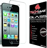 TECHGEAR® Apple iPhone 4 4s GLASS Edition Genuine Tempered Glass Screen Protector Guard Cover (iPhone 4s/4)
