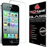 TECHGEAR� Apple iPhone 4 4s GLASS Edition Genuine Tempered Glass Screen Protector Guard Cover (iPhone 4s/4)