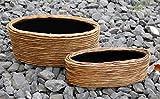 Pflanzkübel Blumenkübel Pflanztopf 2er Set Kunststoff Wasserhyanzinthe