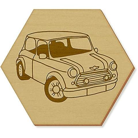 6 x 'Mini Cooper Car' 95mm Hexagon Wooden Coasters
