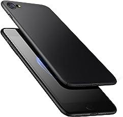 Cover per iPhone 8/iPhone 7, POOPHUNS Custodia per iPhone 8/iPhone 7 in Plastica Dura PC, Ultra Sottile e Anti-Graffio, Cover ultra Slim per iPhone 8/iPhone 7 Anti Scivolo(4.7 pollici)- Nero Opaco