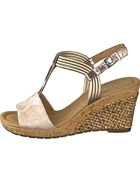 GABOR comfort - Damen Keil-Sandaletten - Rosa Schuhe in Übergrößen