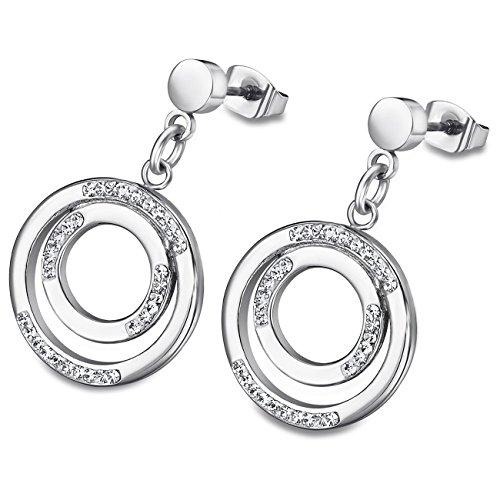 Lotus Style Ohrringe Ohrstecker für Damen aus Edelstahl silber Bliss-Kollektion JLS1883-4-1
