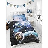 New Kids Glow in the Dark Single Duvet & Pillowcase Set - Planets
