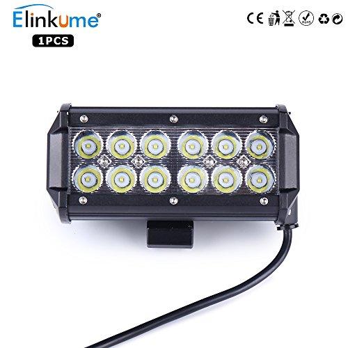 Preisvergleich Produktbild ELINKUME Arbeitslicht 36W LED Offroad Flutlicht Spotlight Reflektor Scheinwerfer Arbeitsscheinwerfer 3600LM Schwarz Aluminium Druckguss IP67 6500K Offroad Flutlicht Spotlight Arbeitslampe