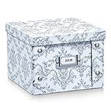 Zeller 17971 Aufbewahrungsbox Vintage, Pappe, weiß, ca. 21,5 x 20,5 x 15 cm