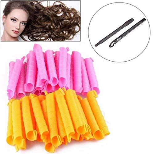 50cm Magic Frisur Bendy Haar Lockenwickler Spiral Curls DIY Werkzeug 40 Stück
