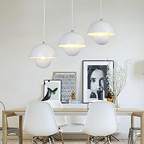 Industrial Modern Vintage Loft Bar Switch Chandelier Iron Globe Shade 3 Lights Hanging Ceiling Pendant Light Lamp for Island Living Room Dining Room Bedroom Office,E27,D50*H120CM,40W