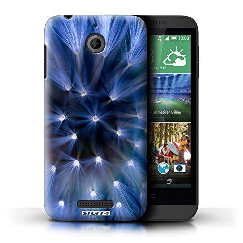 Kobalt® Imprimé Etui / Coque pour HTC Desire 510 / Bleu conception / Série Couleur/Lumière Fleur Bleu