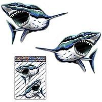 Haifisch Fisch Meer Tier Abziehbild Autoaufkleber für Auto-LKW Wohnwagen - ST00059_SML - JAS Aufkleber