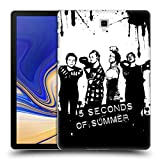 Head Case Designs Offizielle 5 Seconds of Summer Kämpfer Gruppenbild Splatter Kunst Ruckseite Hülle für Samsung Galaxy Tab S4 10.5 (2018)