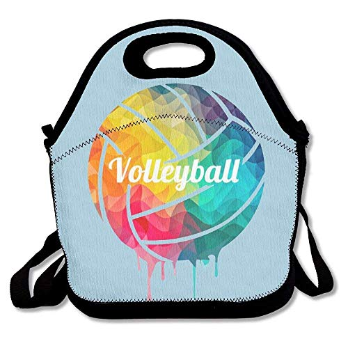 Volleyball Paint Insulated Thermal Lunch Bag Waterproof Outdoor Travel Picnic Carry Case Lunch Handbags Tote - Big-volleyball