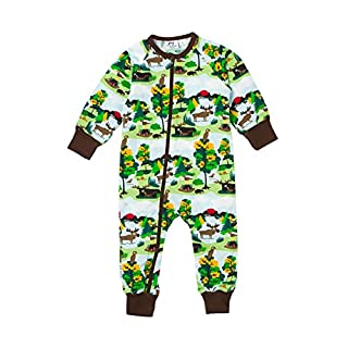 JNY Colourful Kids Baby Boys' Footie Green Green S - Green - 0-3 Months