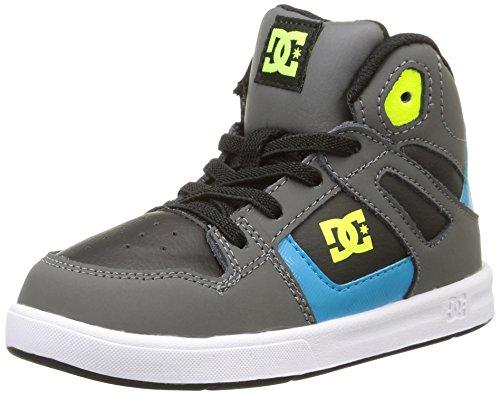 DC Shoes Rebound Ul, Chaussures Premiers pas fille, Gris (Black/Armor/Turquois),21.5 EU