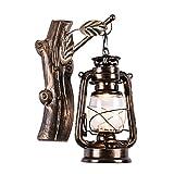 YIKUI Retro Schmiedeeisen Laterne Wandleuchte Persönlichkeit Kreative Loft Coffee Bar Treppenhaus Lampe