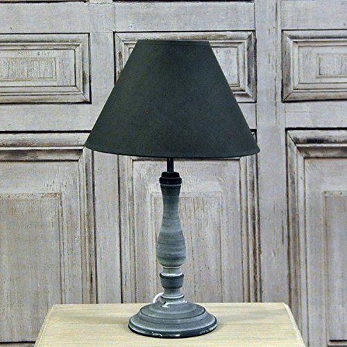 41cm-shabby-chic-farmhouse-style-dark-grey-wash-table-lamp-with-linen-shade