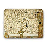 LaMAGLIERIA Tappetino per Il Mouse Klimt Tree of Life - Mouse Pad Rettangolare con Stampa, Formato 23x19 cm