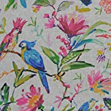 Textiles français Leinenstoff | Paradies auf Erden Vögel