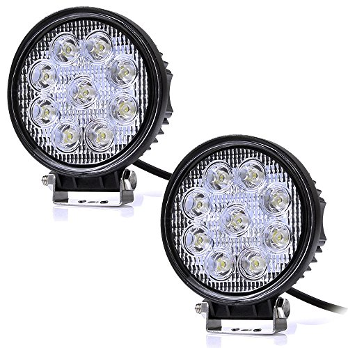 Preisvergleich Produktbild Kaleep 2 X 27W LED Offroad Flutlicht Reflektor Scheinwerfer Arbeitslicht SUV, UTV, ATV Arbeitsscheinwerfer Zusatzscheinwerfer Offroad Scheinwerfer 12-24V (2 Stück)
