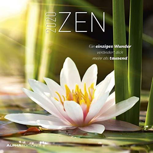 Zen 2020 - Broschürenkalender (30 x 60 geöffnet) - mit Sprüchen - Wandkalender - mit Lebensweisheiten - Meditationskalender - Wandplaner