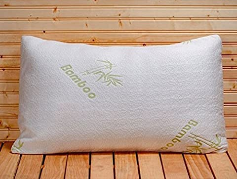 Memory Foam Pillow - Five Star Hotel Comfort Bamboo Pillow Filled with Shredded Foam - Removable Hypoallergenic Bamboo Cover Case - Luxurious Comfort - Perfect Contour - Bes for Side Sleeper - Helps with Neck and Back Pain - Stop Tossing and Turning - Get the Sleep You Deserve - Great During Maternity Pregnancy or Yoga - Perfect Chiropractic Body Support Every Night -Great for Travel Too - Lifetime Money Back Guarantee - Queen Size by OB1999