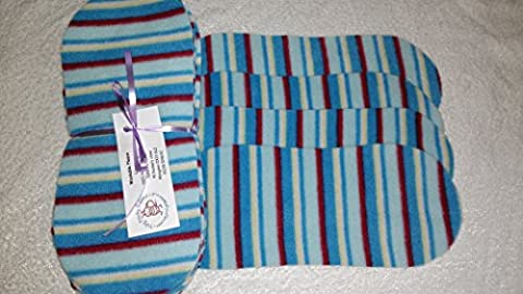 Easy Peasy Fleece Nappy Liners Pk15 Blue Stripe Polar Fleece