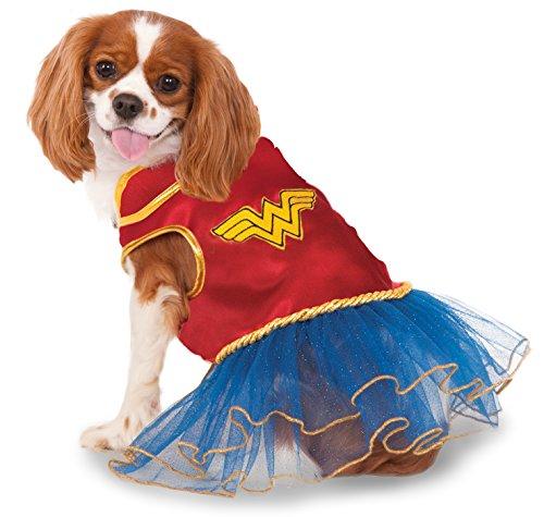 Rubies Costume Company DC Comics Wonder Woman Pet Tutu Kleid (Rubies Costume Company)