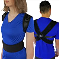 ComfyMed® Posture Corrector Clavicle Support Brace CM-PB16 Medical Device to Improve Bad Posture, Thoracic Kyphosis, Shoulder Alignment, Upper Back Pain Relief for Men and Women