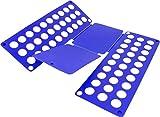 Falthilfe Wäschefalter Faltbrett Hemdenfalter - 11 coole Farben zur Auswahl Farbe Blau