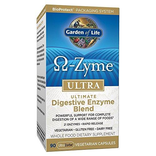 Garden of Life, Omega-Zyme Ultra, Ultimative Verdauungsenzymmischung, 90 vegetarische Kapseln | 21 Enzyme | schnelle Wirkung | Vegetarisch Glutenfrei Milchfrei -