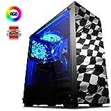VIBOX Vinco 4 Gaming PC Computer mit War Thunder Spiel Bundle (4,6GHz Intel i7 6-Core Coffee Lake Prozessor, Nvidia GeForce GTX 1050 Grafikkarte, 16Go DDR4 2133MHz RAM, 2TB HDD, Ohne Betriebssystem)