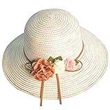 Amorar Frauen Sonnenhüte Strohhut Sommer Strand Reise Hut Faltbare Breiter Krempe Cap Headwear für Radfahren Camping Wandern Trekking Laufen