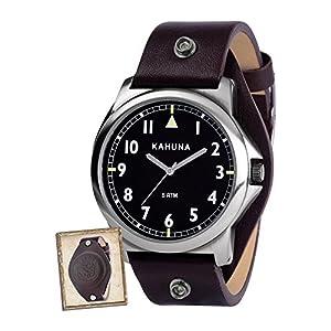 Kahuna KUS-0079G – Reloj analógico para Hombre, Correa de Cuero Color marrón