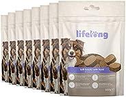 Amazon-Marke: Lifelong - Hundeleckerli, reich an Protein mit Ente (8 Packungen x 300gr)