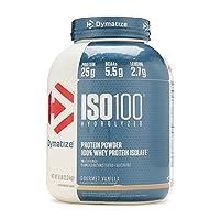 Dymatize Nutrition Iso 100 Hydrolyzed 100% Whey Protein Isolate Gourmet Vanilla, 2267.9 G