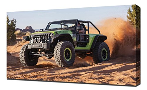 Pingoo Prints Jeep Wrangler trailcat Naias 2017SUV 33.347,7cm Print/Art Wand Wrap, Leinwand, Mehrfarbig, 60x 90x 5cm