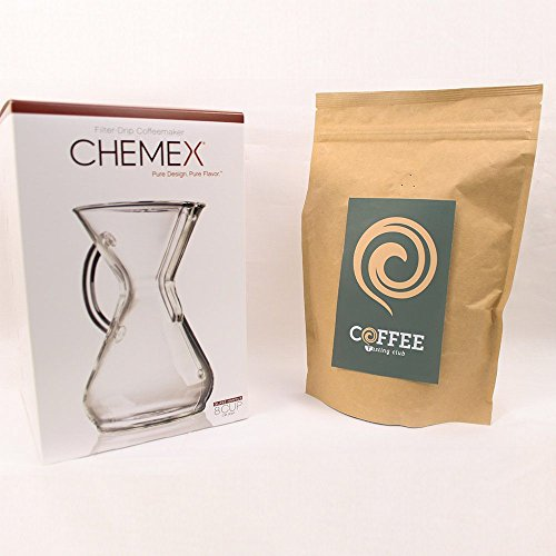 Chemex-6-8-Glass-Handle-Coffee-Maker-and-Coffee-of-the-Month