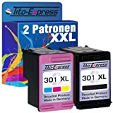 PlatinumSerie® Set 2x Tinten-Patrone kompatibel für HP 301 XL Black & Color Officejet 2620 2622 4630