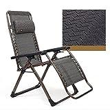 Deckchairs HAIZHEN Gravity Lounge Sessel Justierbarer stützender Nullgressions-Stuhl-Klubsessel-Patio, der für Yard-Strand 4 Farben faltet für Den Außenhof (Farbe : C)